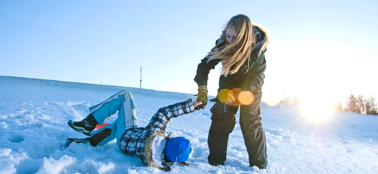 Winter Haus Linda, Kinder im Schnee
