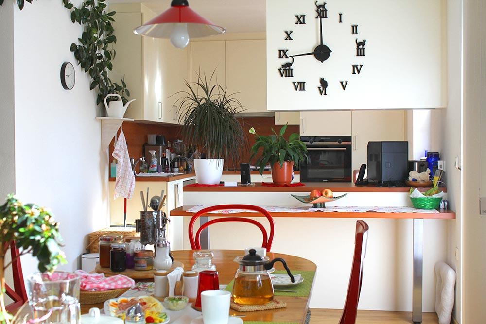 Haus Linda, FrühstücksWohnZimmer